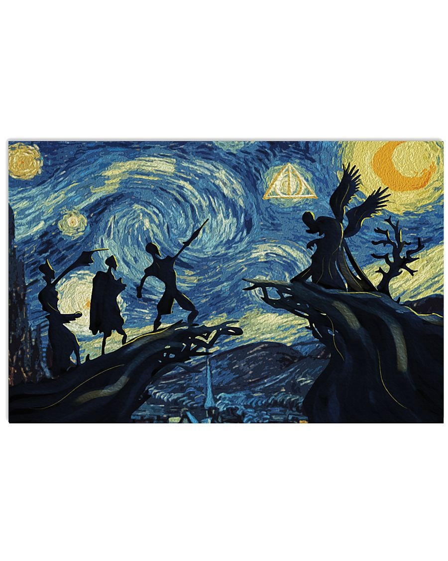 Harry Potter and the Deathly Hallows - Starry Night poster