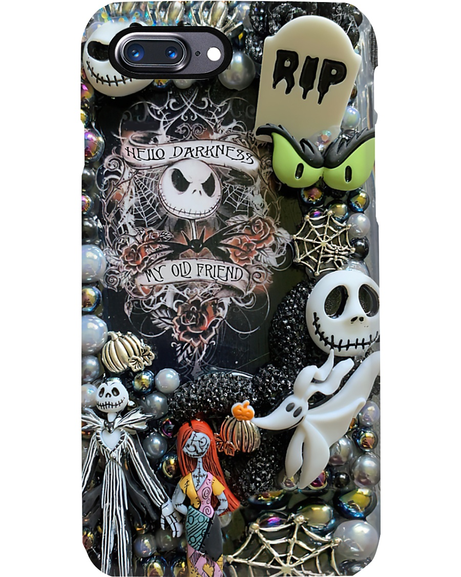 Hello darkness my old friend The Nightmare Before Christmas phone case 8