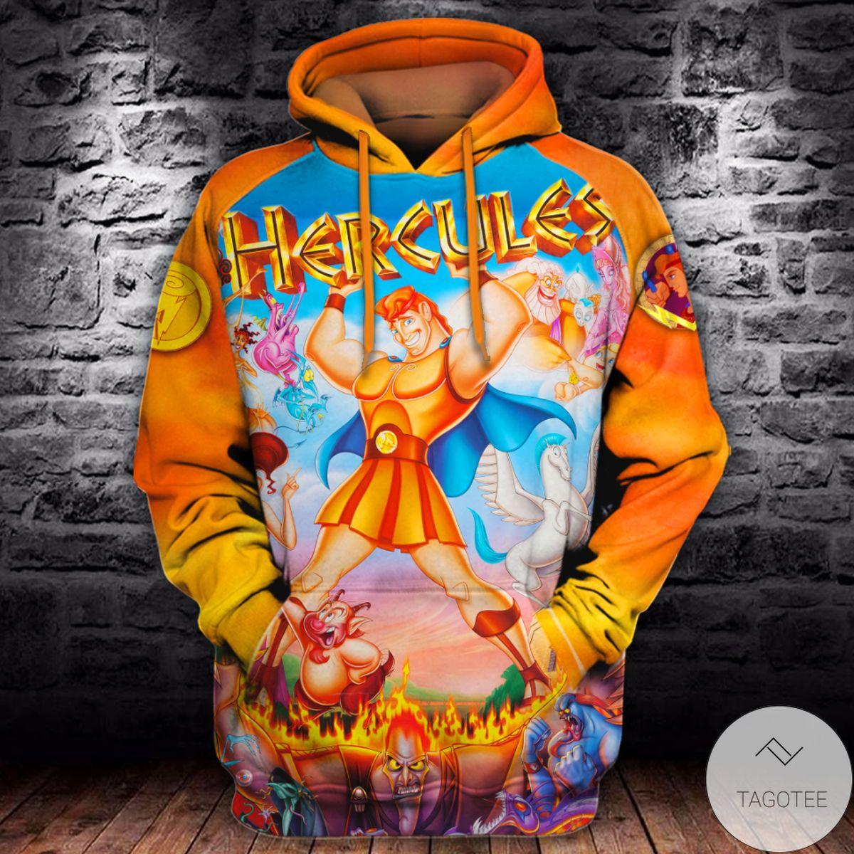 Hercules Orange 3d Hoodie