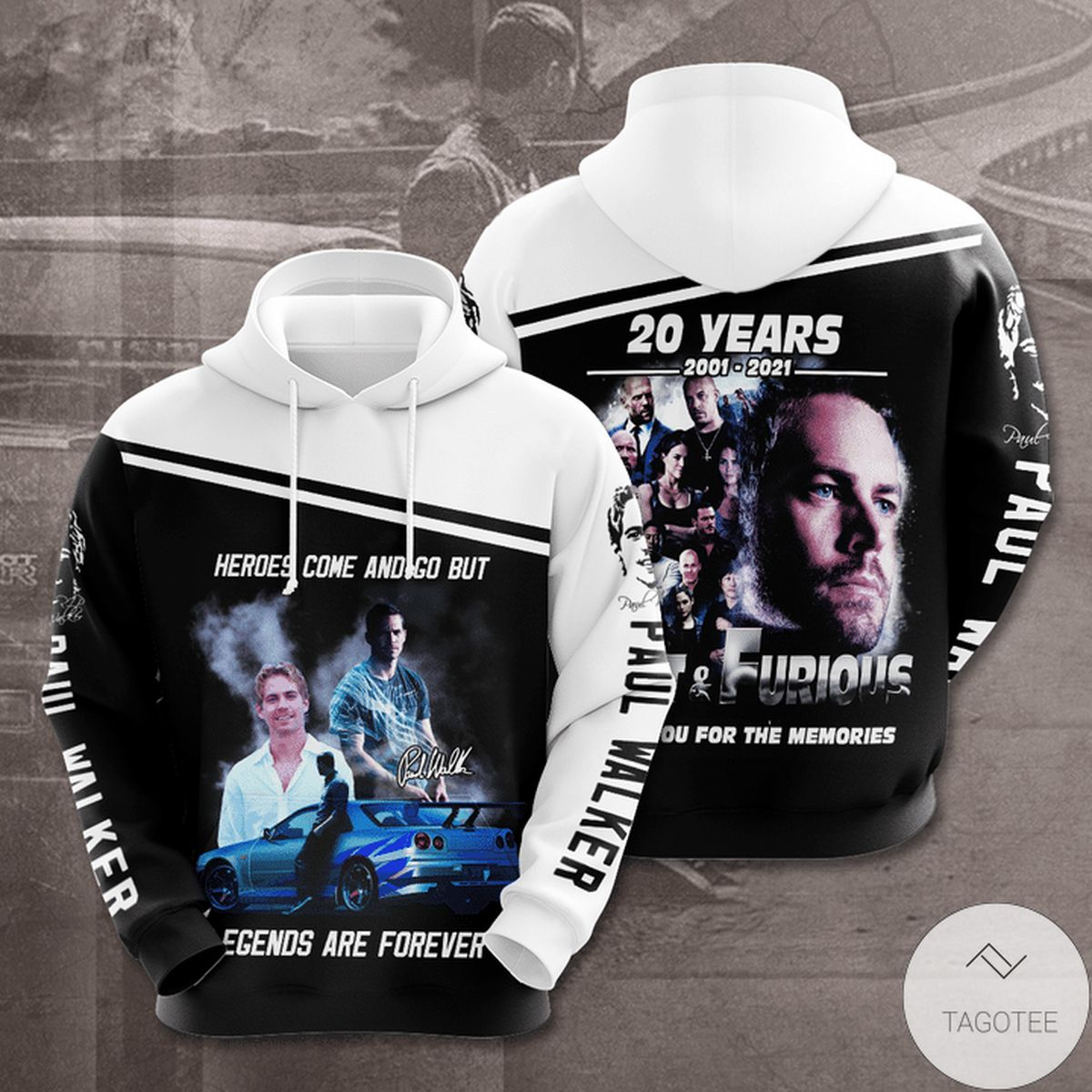 Hero Come And Go But Legends Are Forever Paul Walker 3d Hoodie