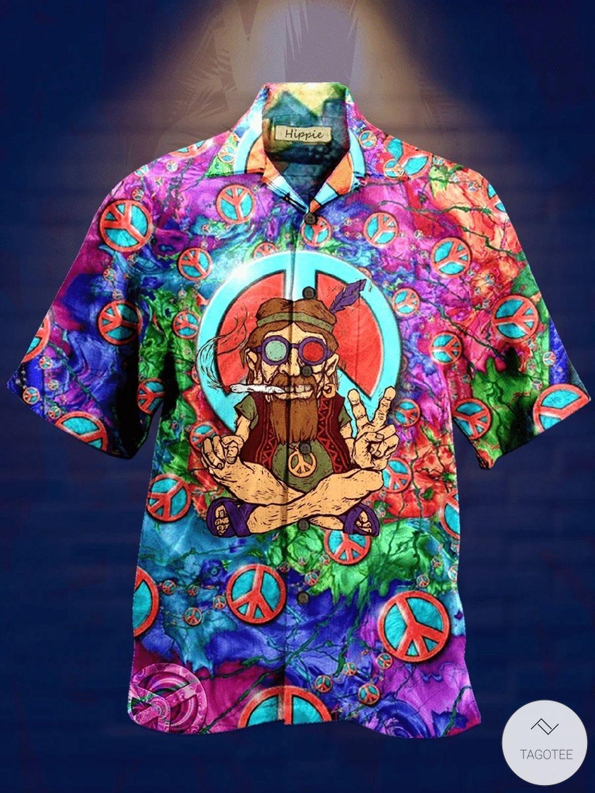 Hippie Art Hawaiian Shirt