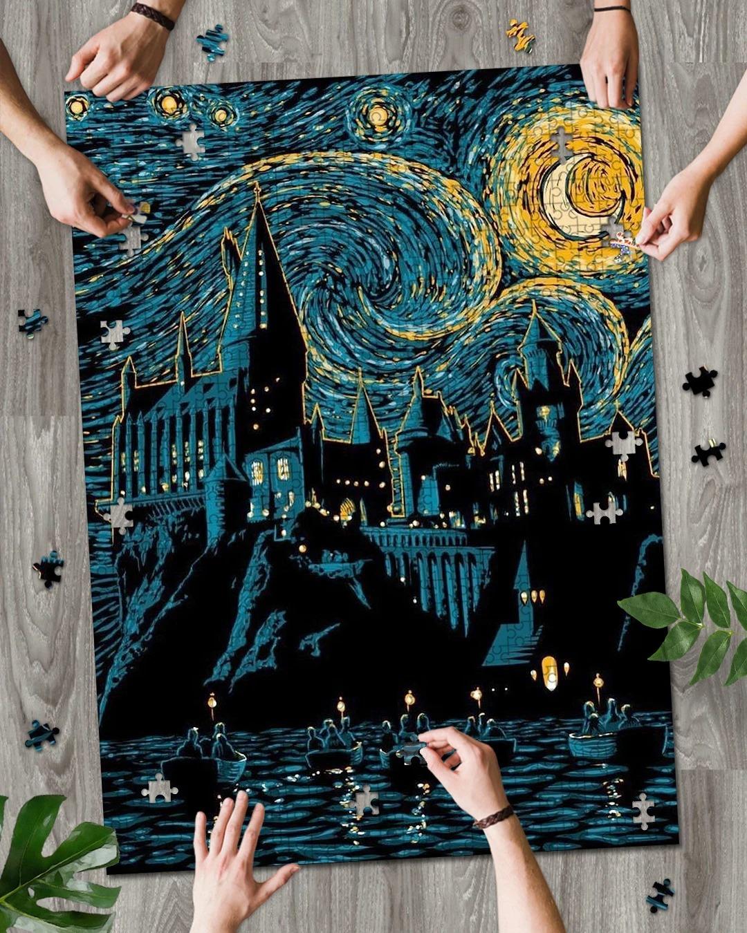 Hogwarts Starry Night jigsaw puzzles