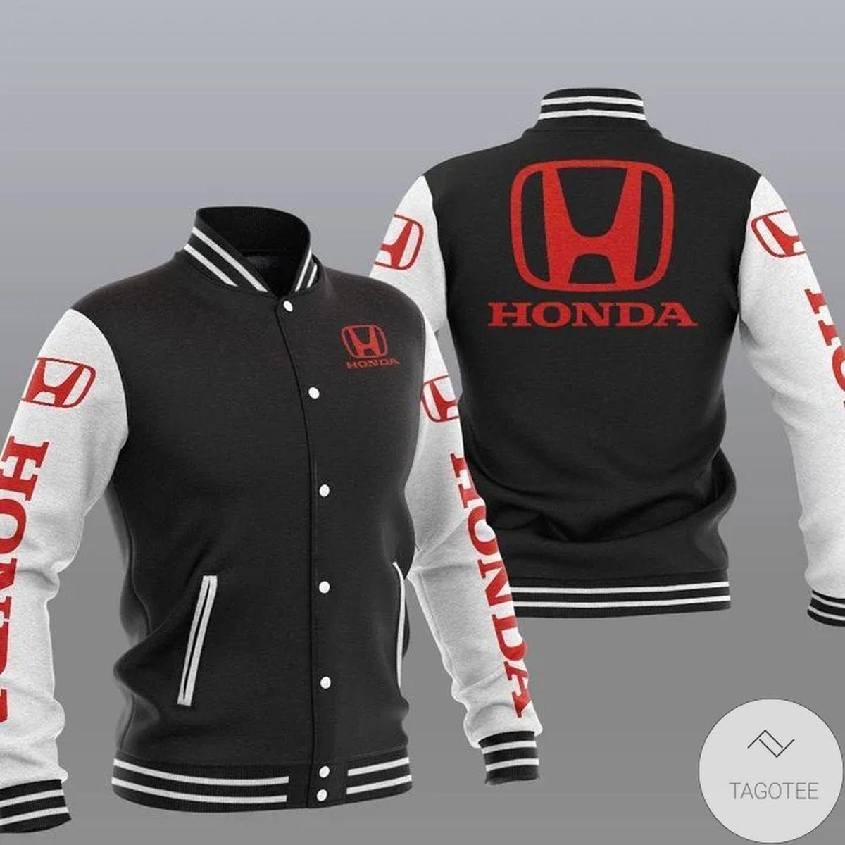Discount Honda Logo Varsity Baseball Jacket