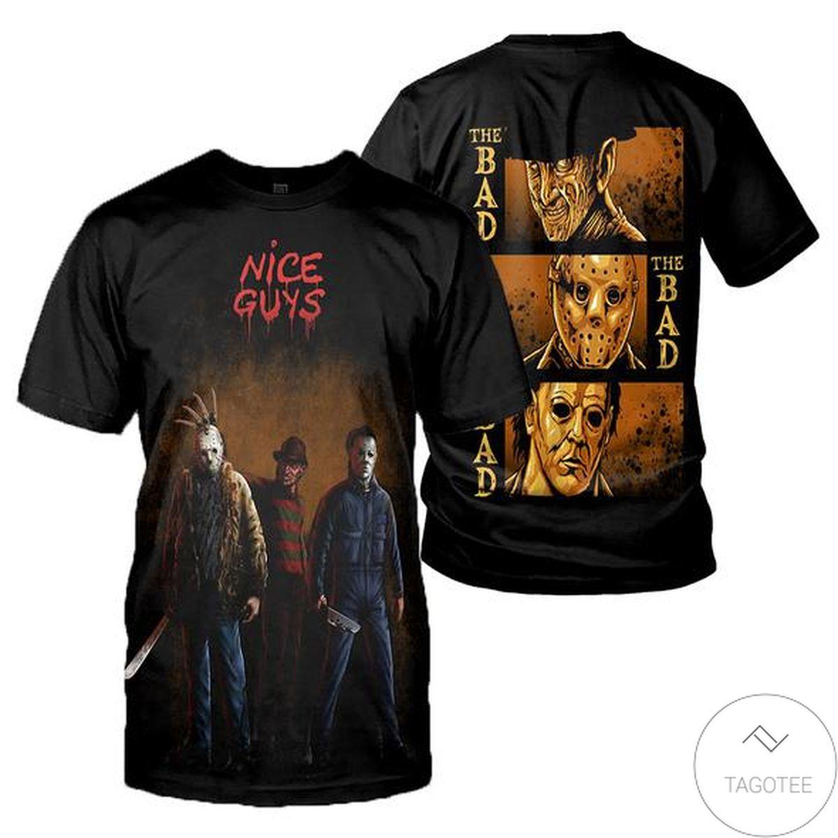 Horror Movies Killer Character Nice Guys 3d Shirt