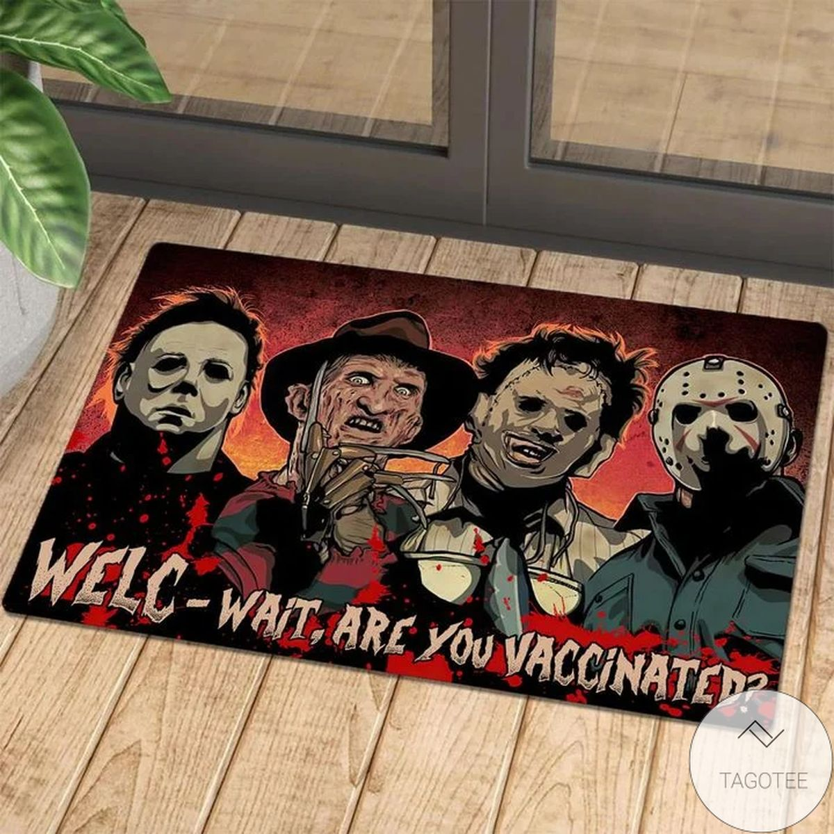 Horror Squad Wait Are You Vaccinated Doormat