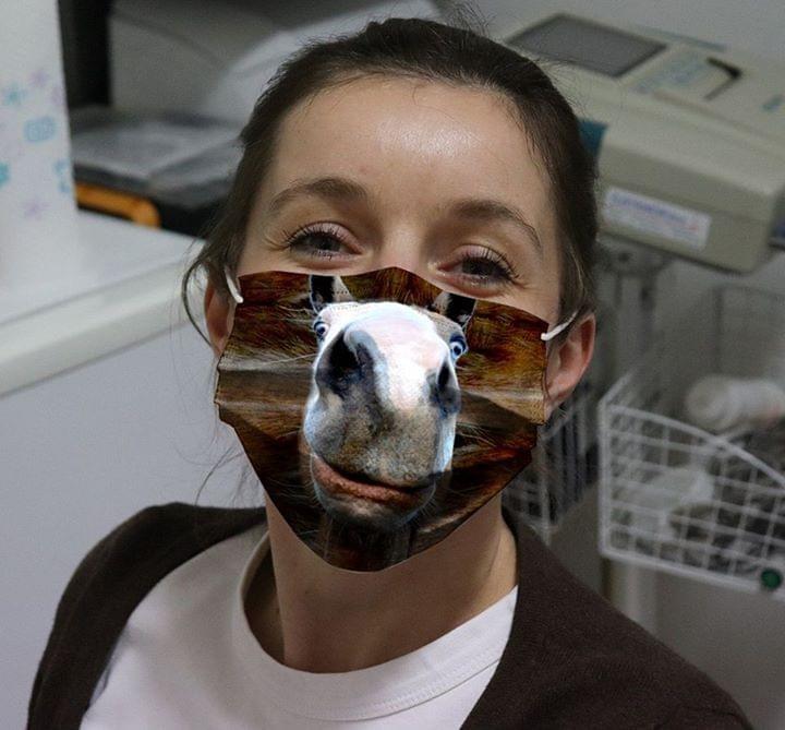 Horse 3D cloth face mask