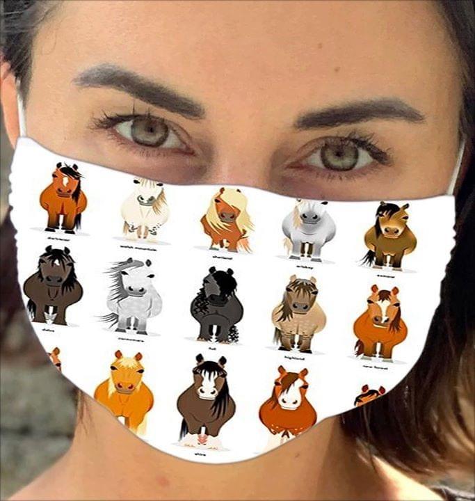 Horse Chibi Illustration face mask 0