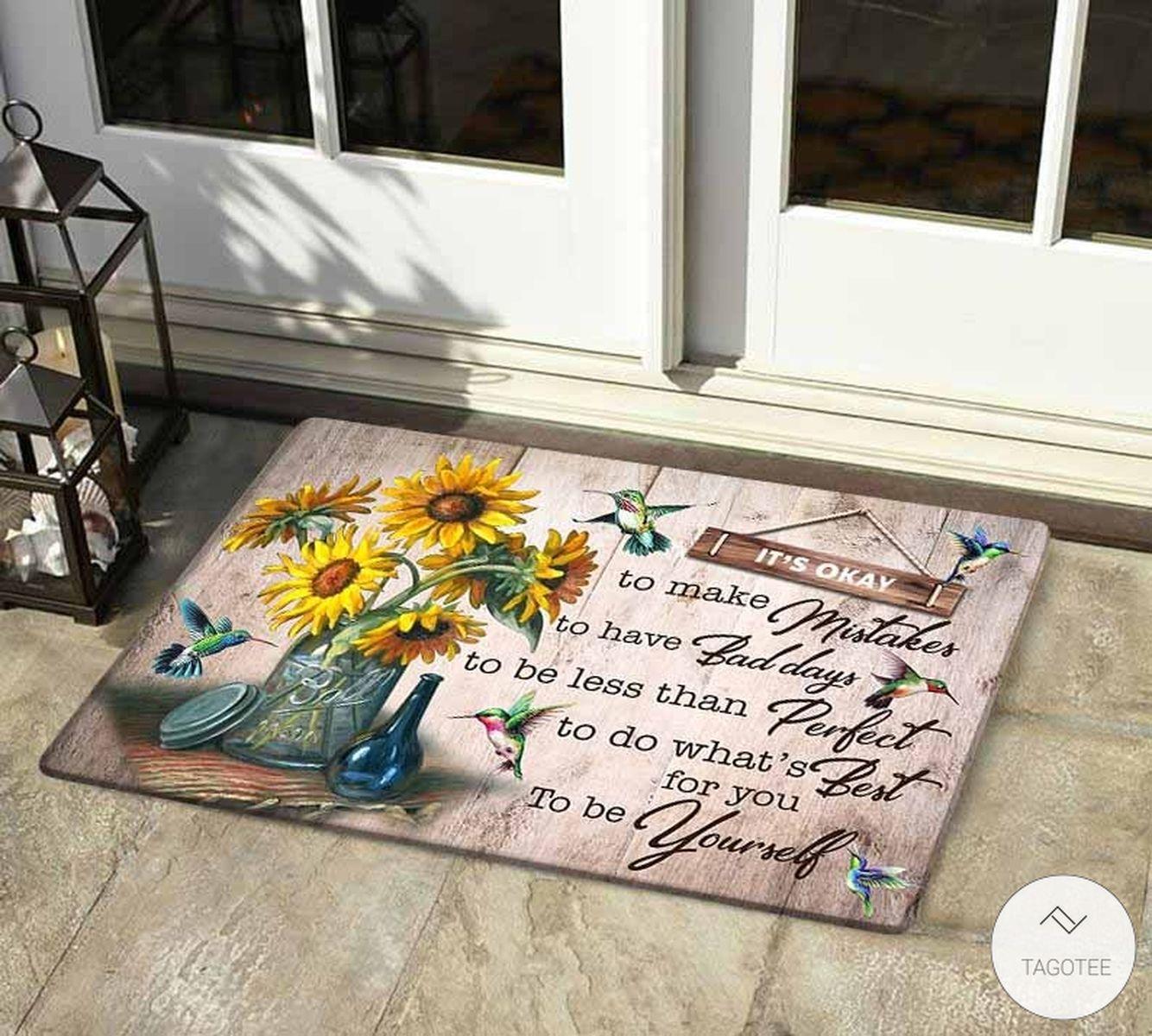Hummingbird To Be Yourself Doormat