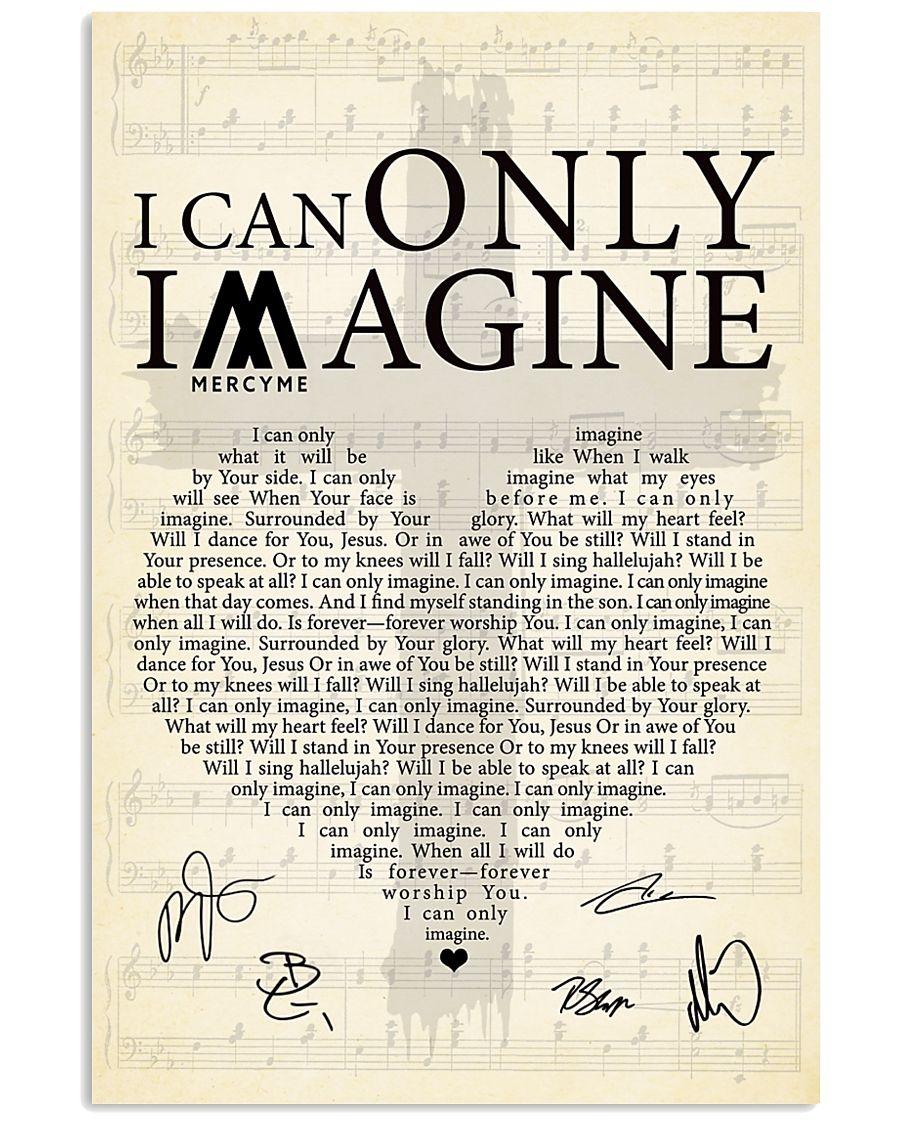 I Can Only Imagine lyrics signatures poster 1