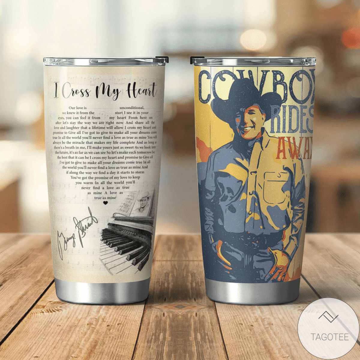 Absolutely Love I Cross My Heart George Strait - Cowboy Rides Away Tumbler
