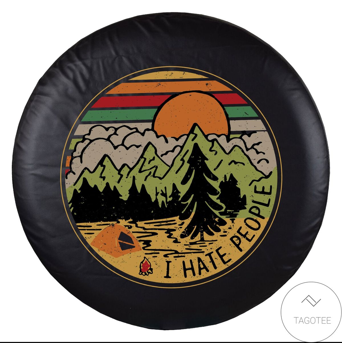 I Hate People Camping Spare Tire Cover