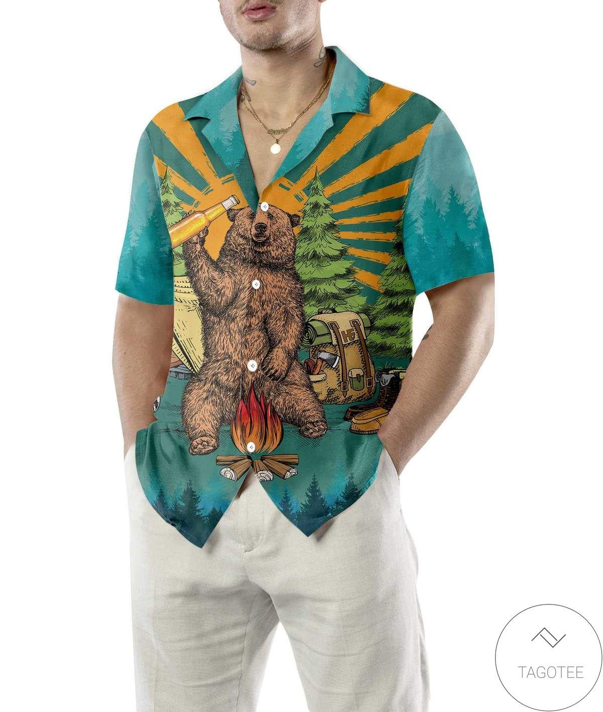 I Just Want To Drink Beer Go Camping And Take Naps Hawaiian Shirtz
