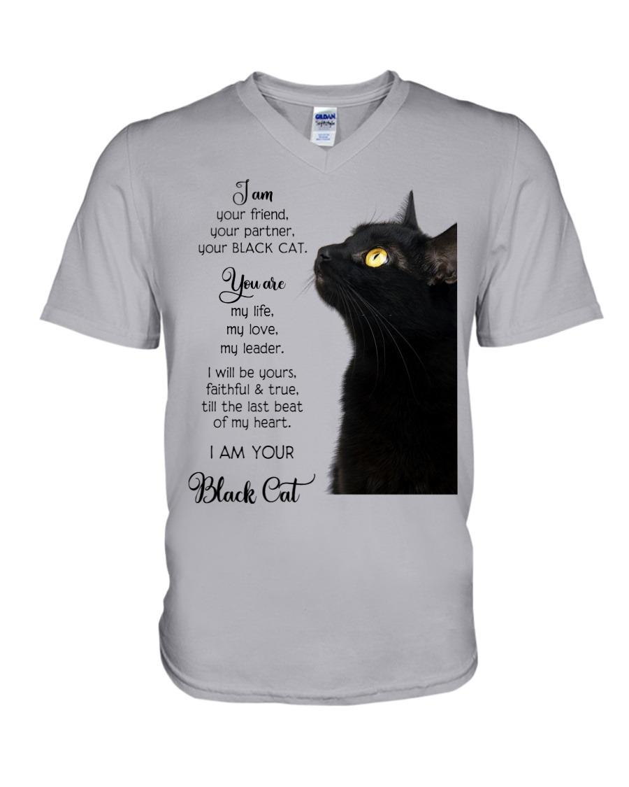 I am you friend your partner your black cat V-neck