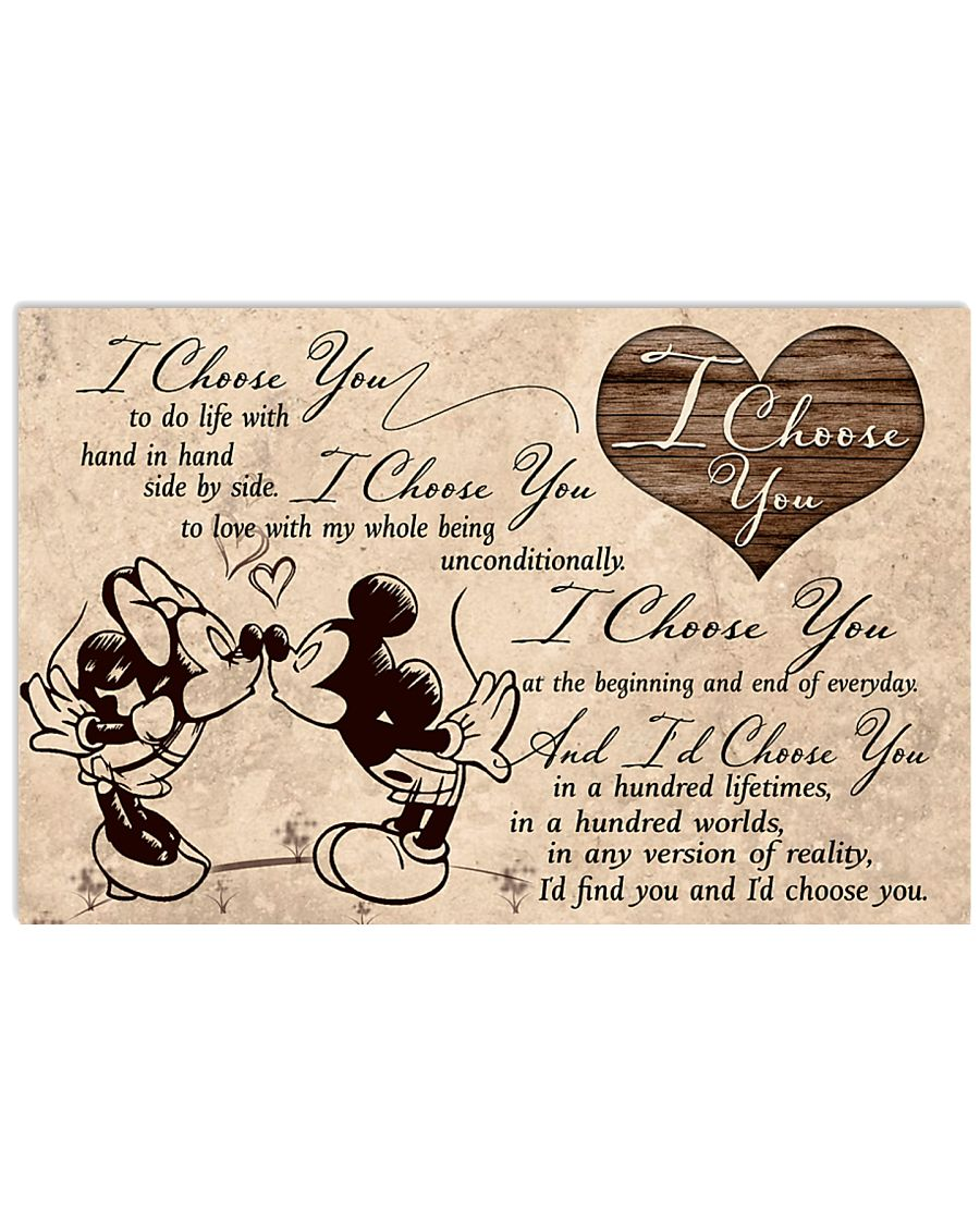 I choose you to do life with hand in hand side by side Mickey and Minnie poster 1