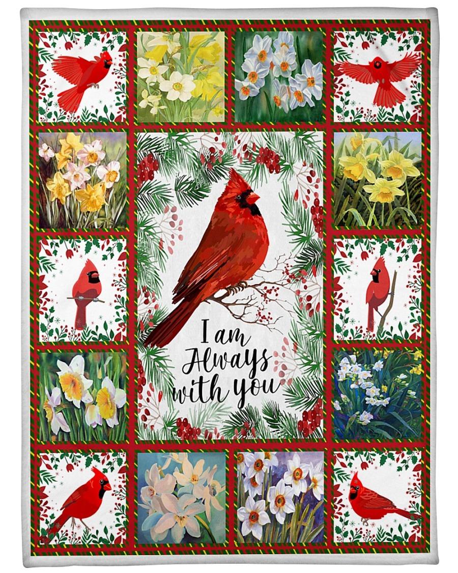 I'M Always With You Cardinals Flowers Fleece Blanket