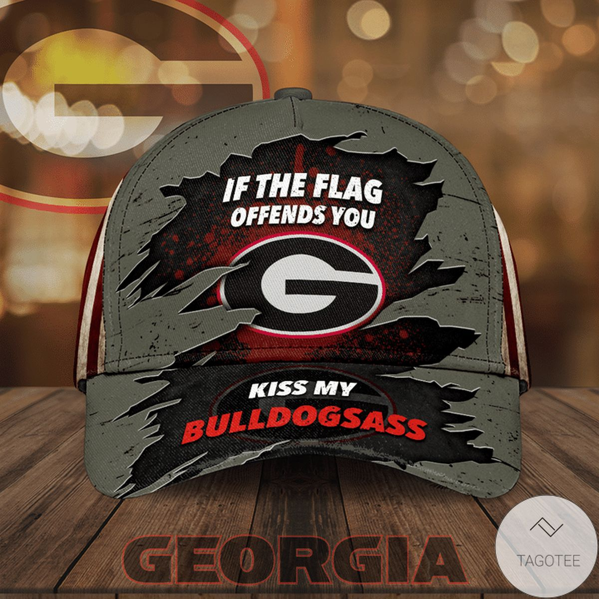 If The Flag Offends You Kiss My Bulldogsass Cap
