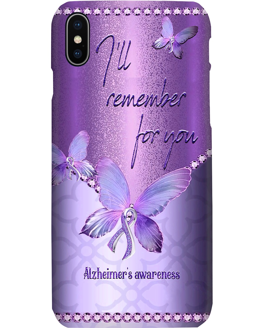 I'll remember for you Alzheimer's awareness Butterfly phone case 7