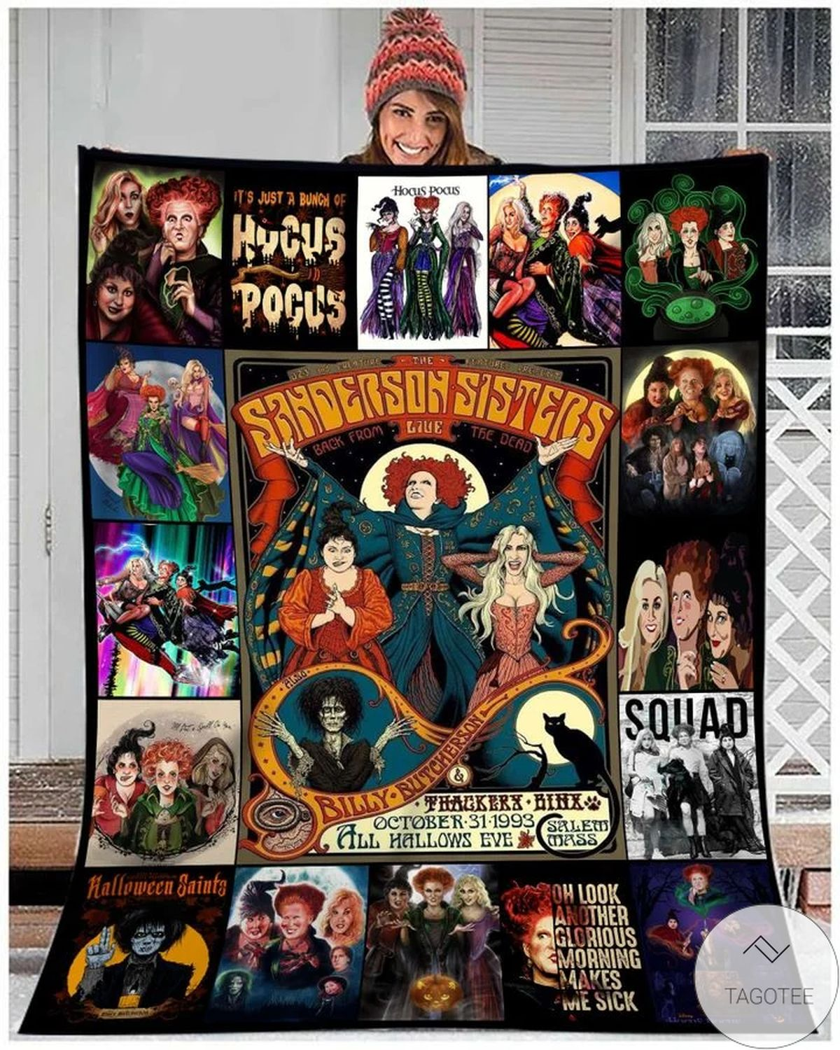 In A World Full Of Basic Witches Be A Sanderson Sister Hocus Pocus Blanket