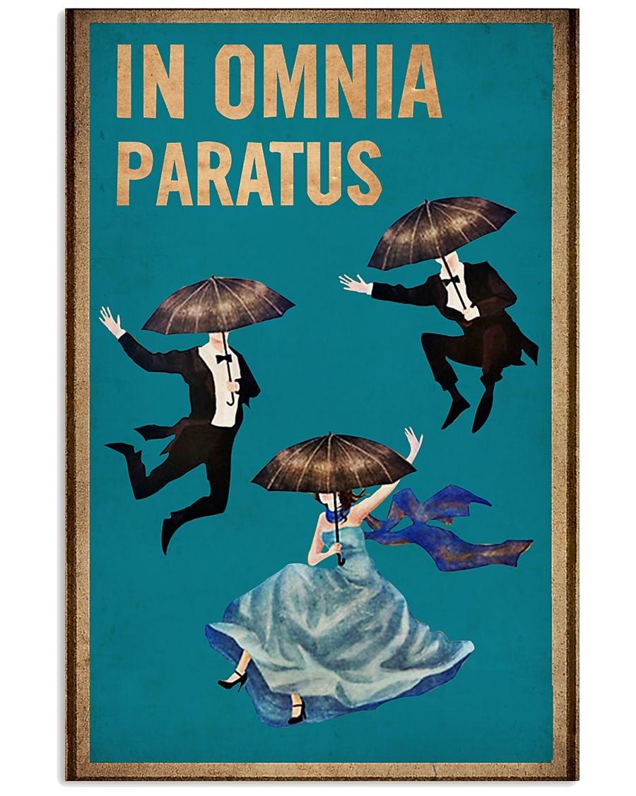 In Omnia Paratus Vintage poster