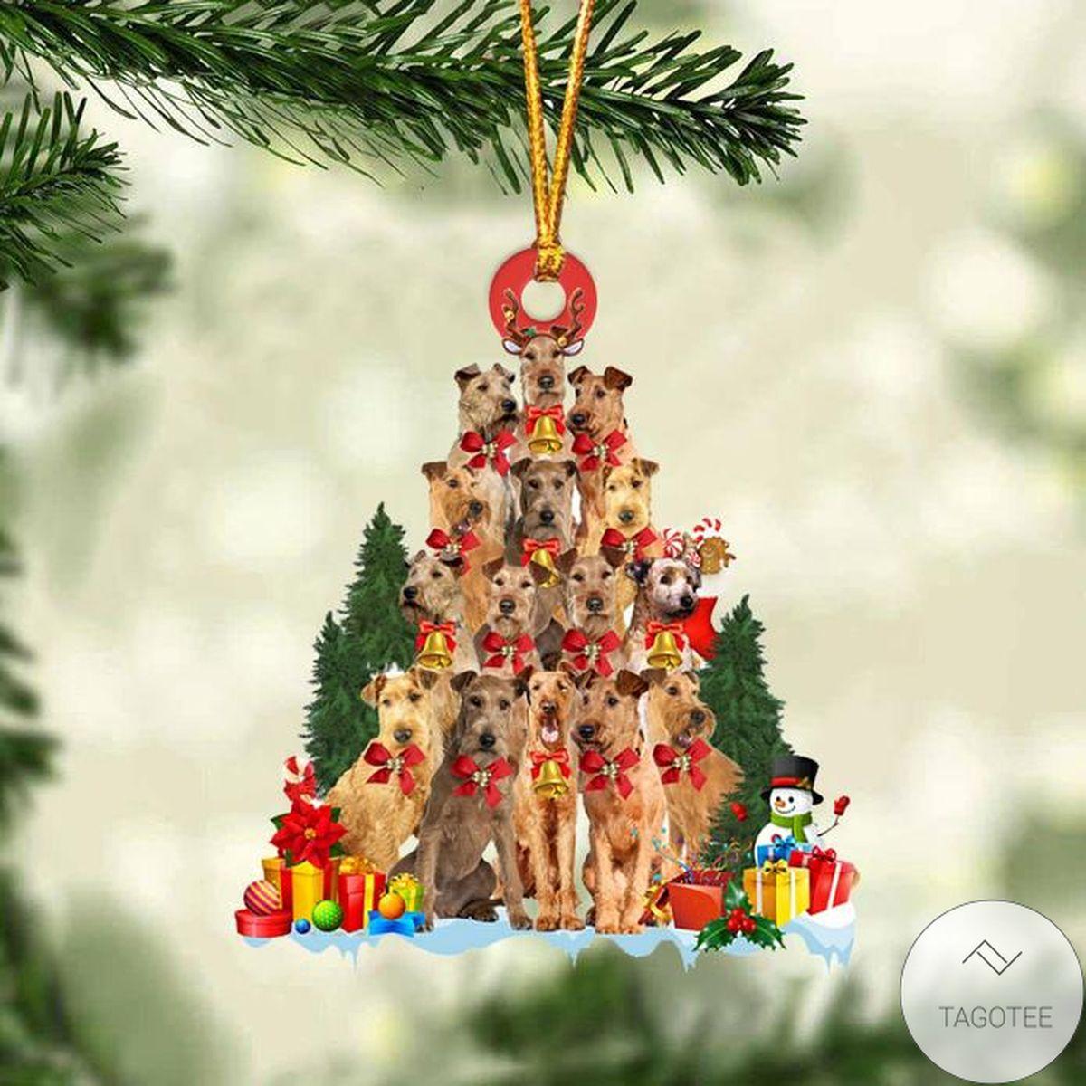 Irish Terrier Dog Christmas Tree Ornament