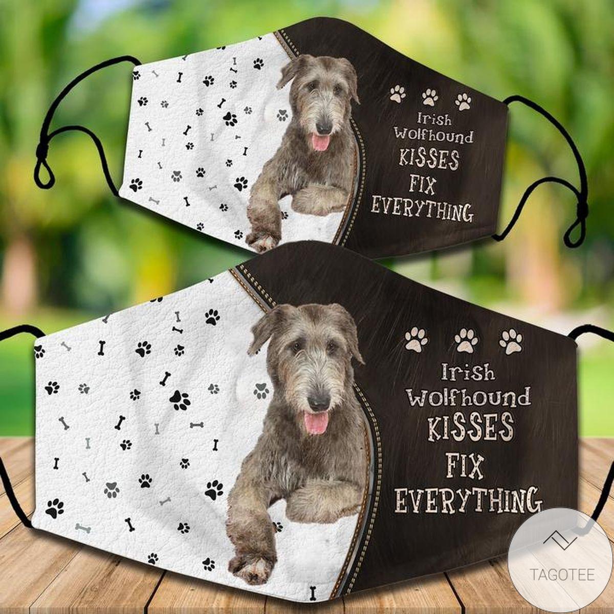 Irish Wolfhound Kisses Fix Everything Face Mask