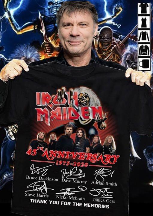 Iron Maiden 45th Anniversary 1975-2020 shirt 0