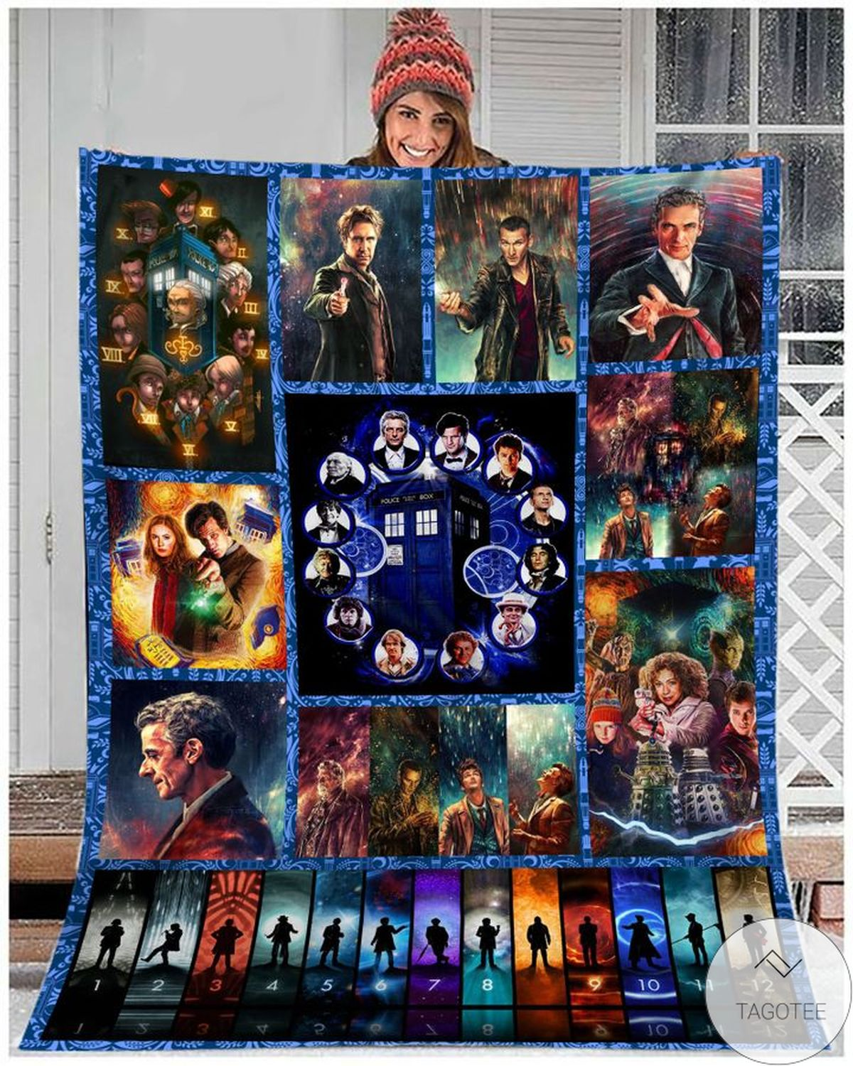 It's Time To Stay Home And Watch Eighth Doctor Blanket