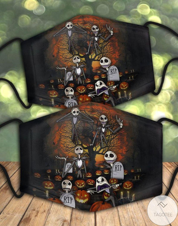 Jack Skellington Halloween Face Mask