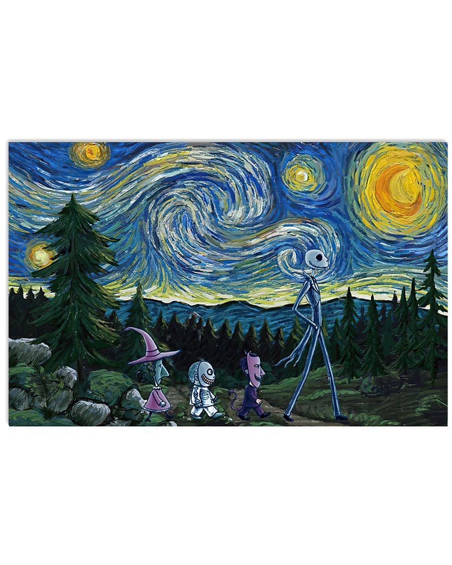 Jack Skellington Nightmare - Starry Night poster