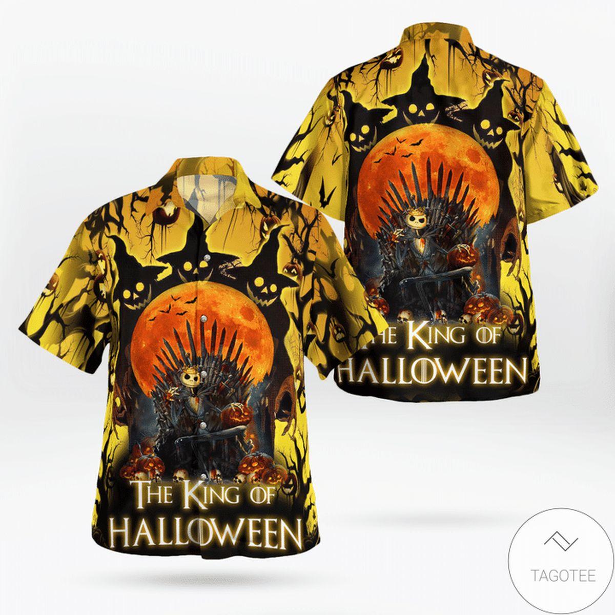 Jack Skellington The King Of Halloween Hawaiian Shirt