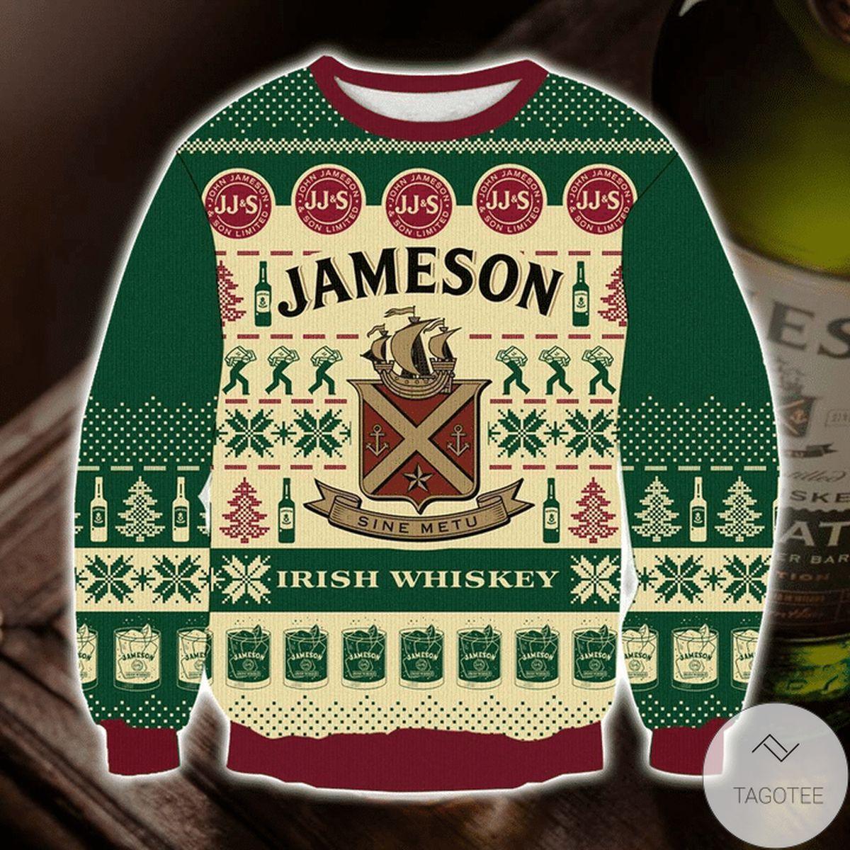 POD Jameson Irish Whiskey Ugly Christmas Sweater