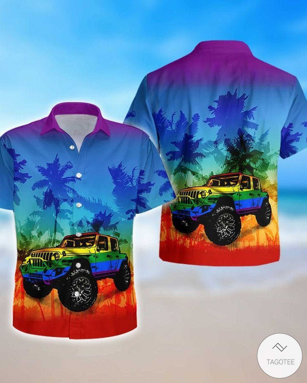Jeep LGBT Flag Hawaiian Shirtz