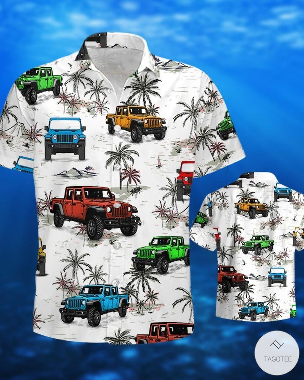 Jeep Ocean Gladiator Hawaiian Shirtz