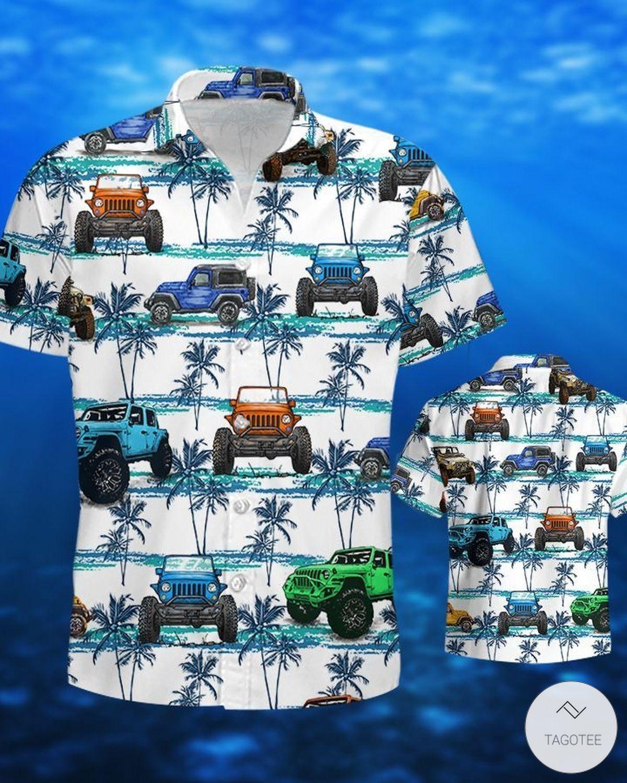 Jeep Palm Tree Pattern Hawaiian Shirtz
