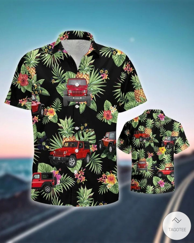 Jeep Pineapple Hawaiian Shirtz