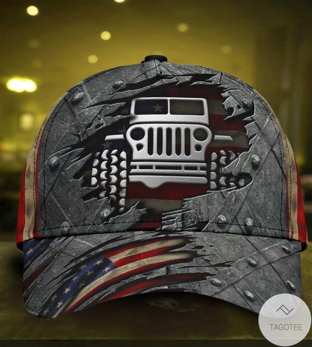 Jeep Us Flag Cap