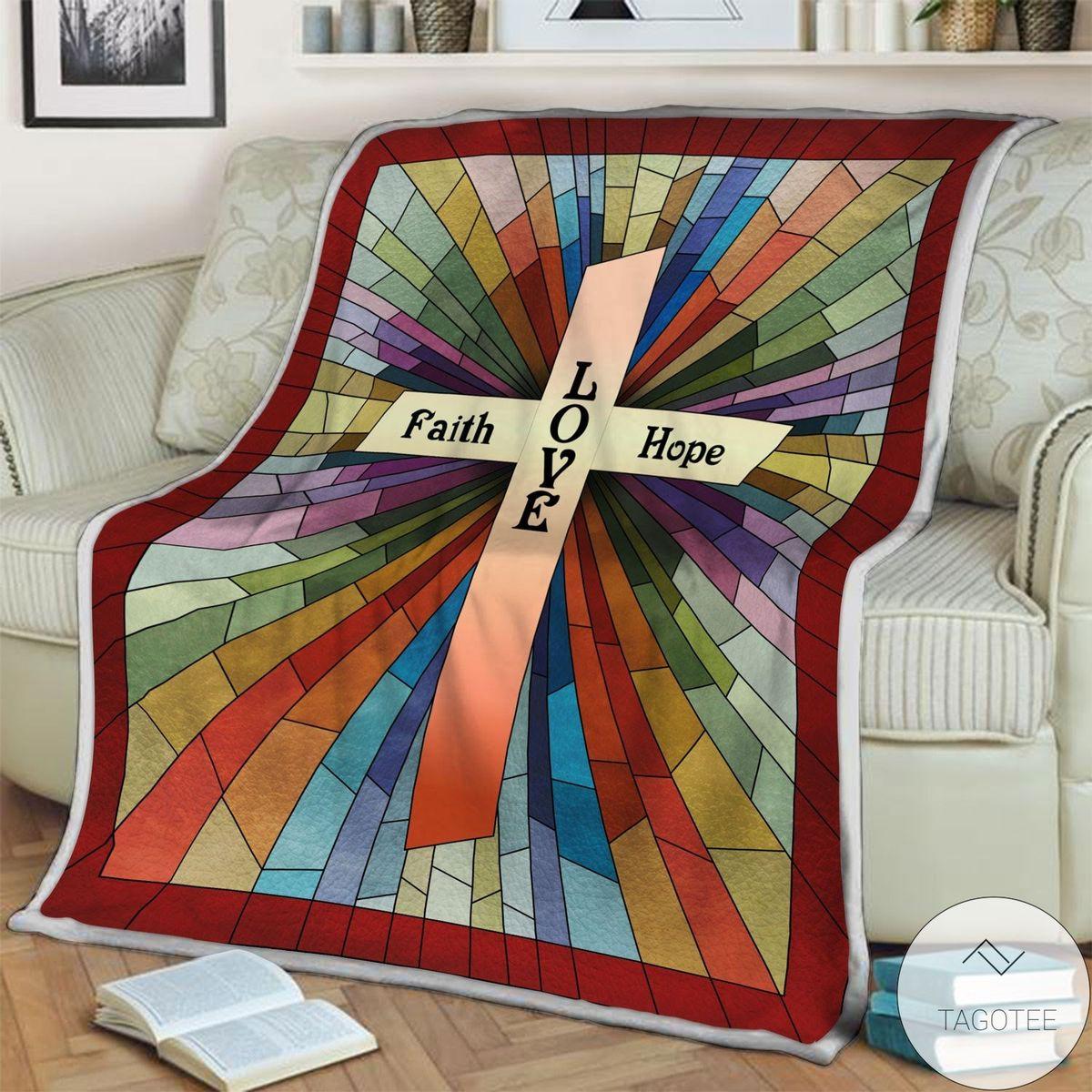 Jesus Faith Love Hope Blanket