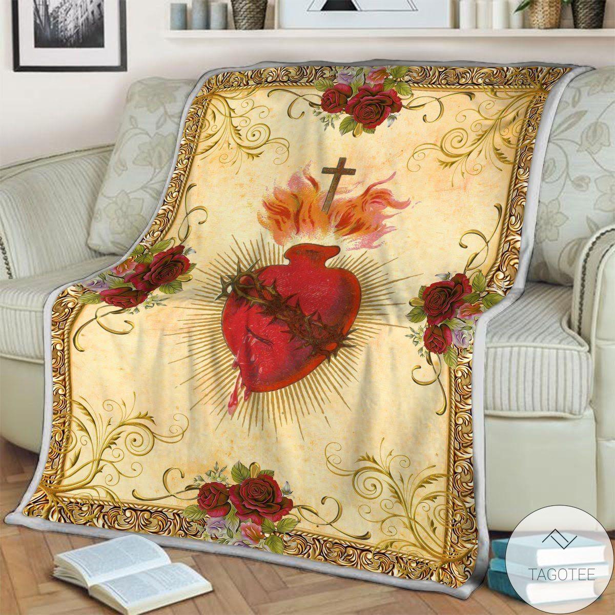 Amazing Jesus Heart Blanket