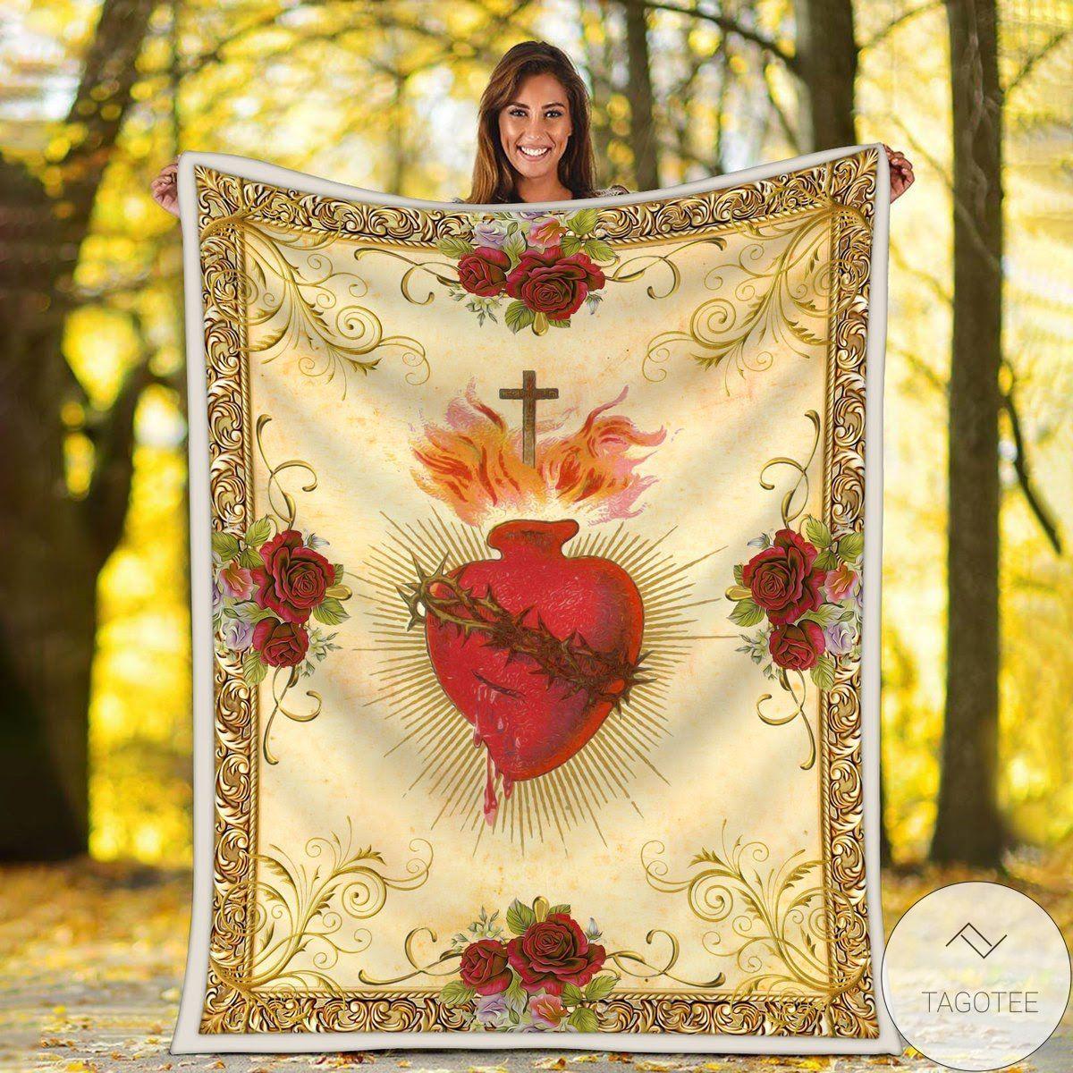 Jesus Heart Blanket
