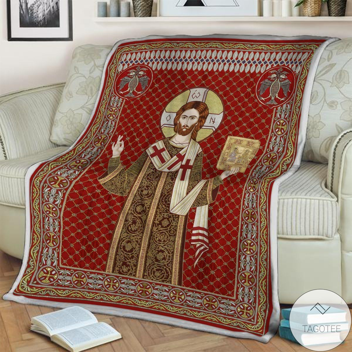 Review Jesus I Trust In You Blanket
