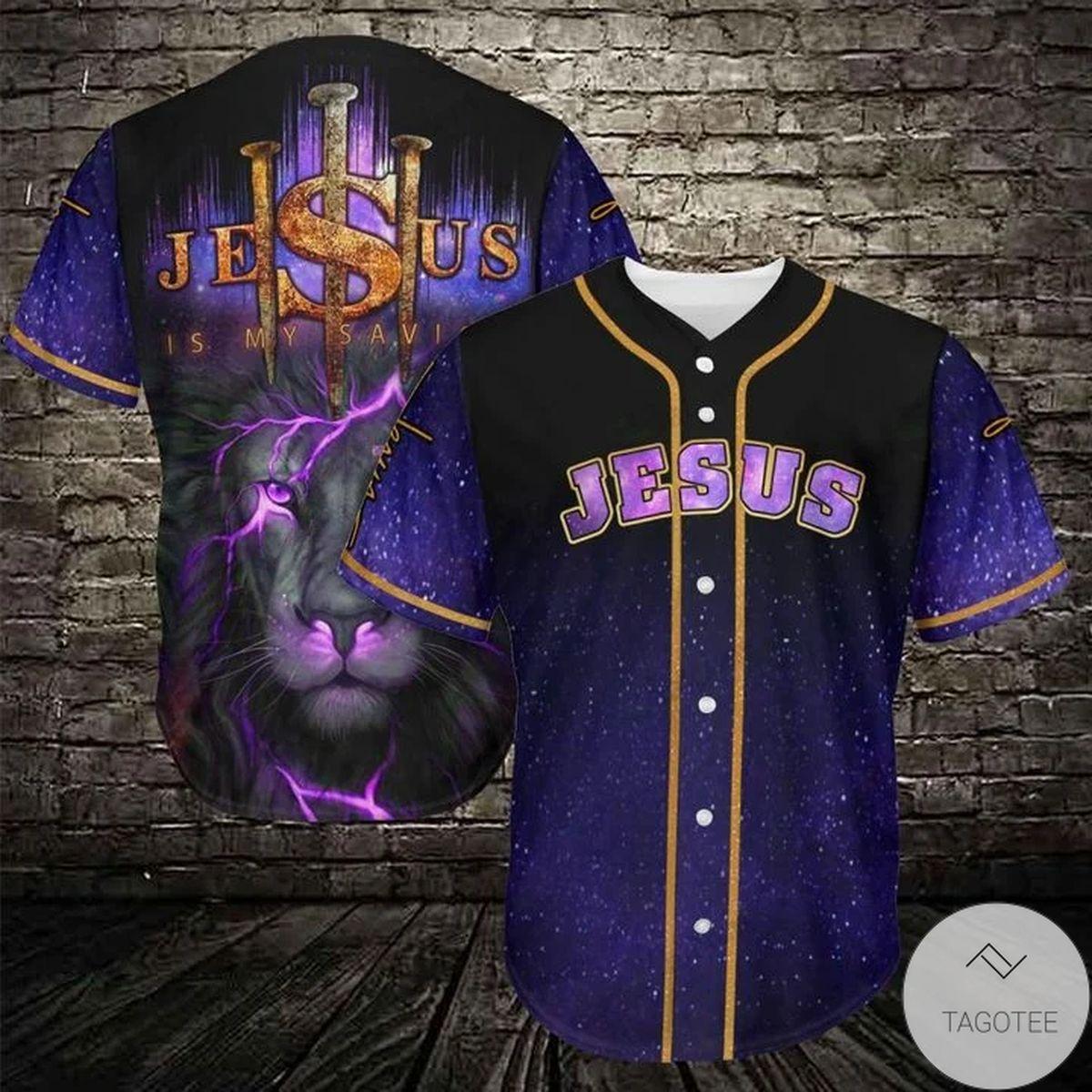 Jesus Lion Baseball Jersey