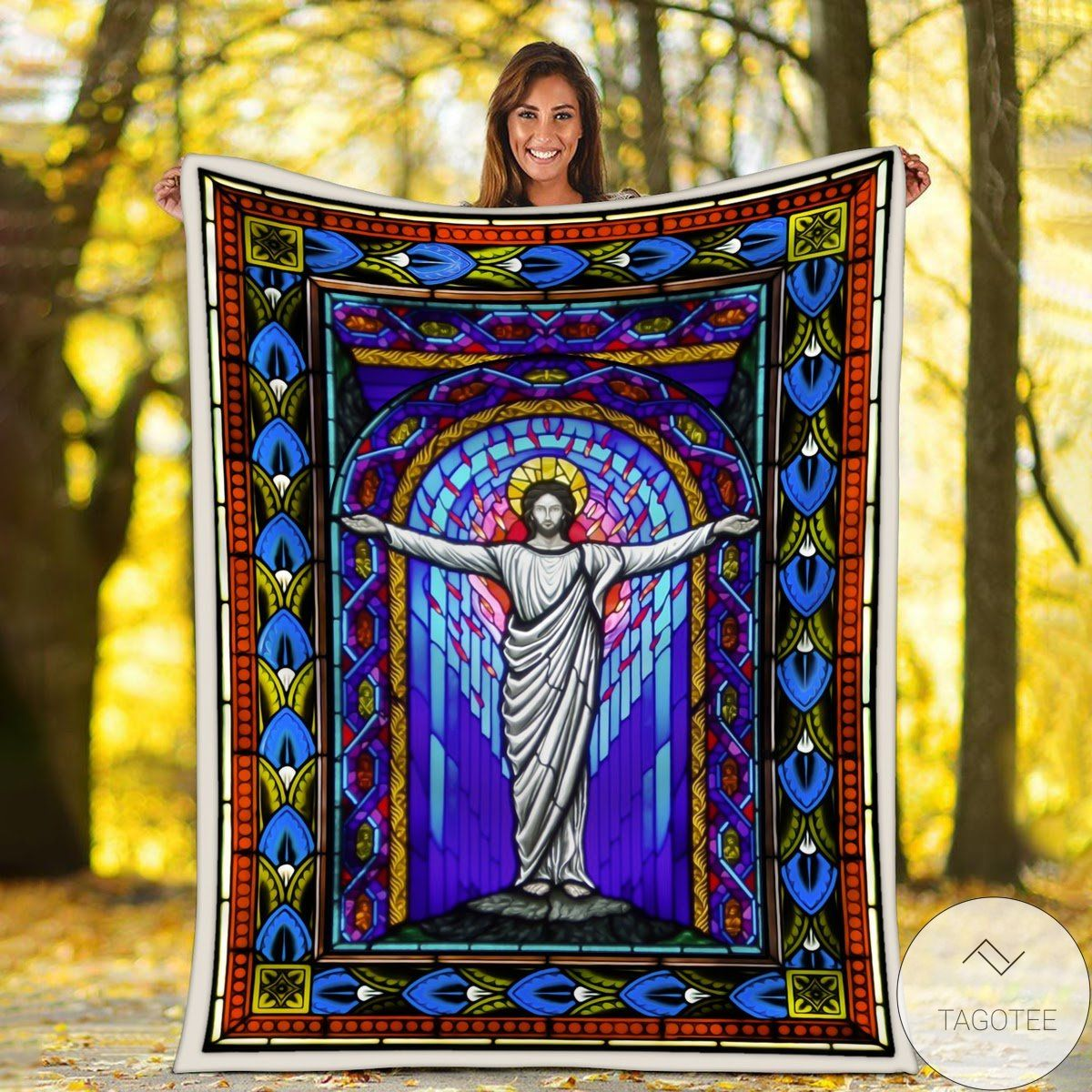 Best Shop Jesus Stained Glass Blanket