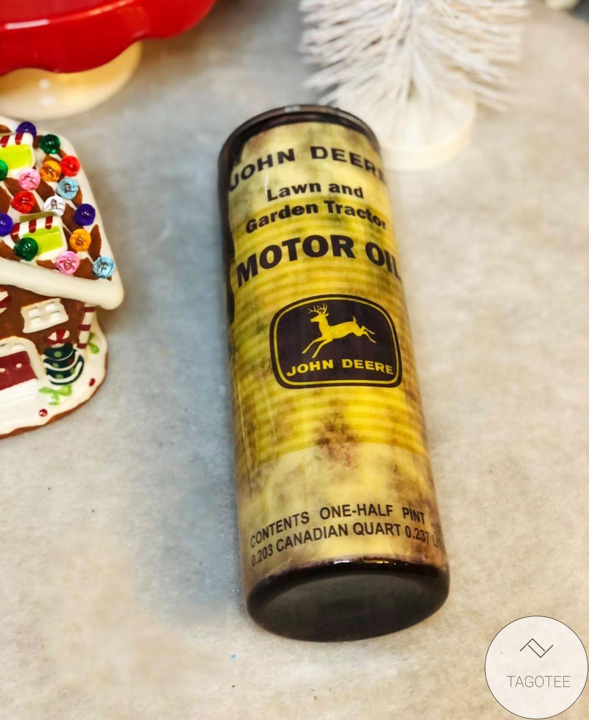John Deere Motor Oil Skinny Tumbler
