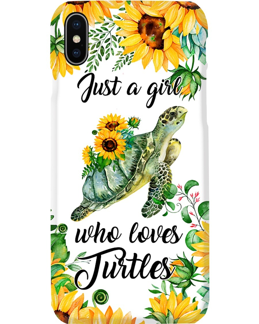 Just A Girl Who Loves Turtles And Sunflowers phone case x