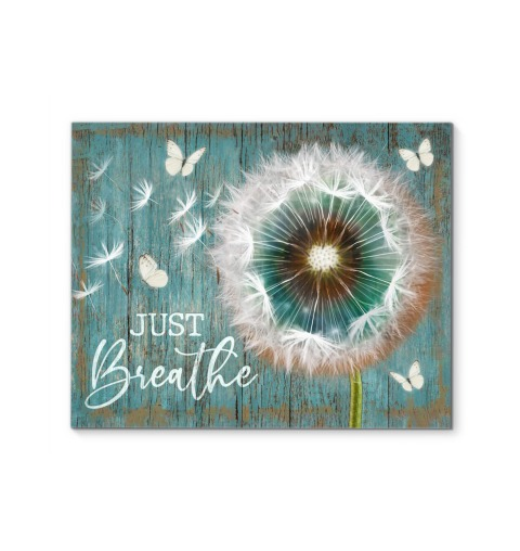 Just Breathe Dandelion Gallery Wrapped Canvas