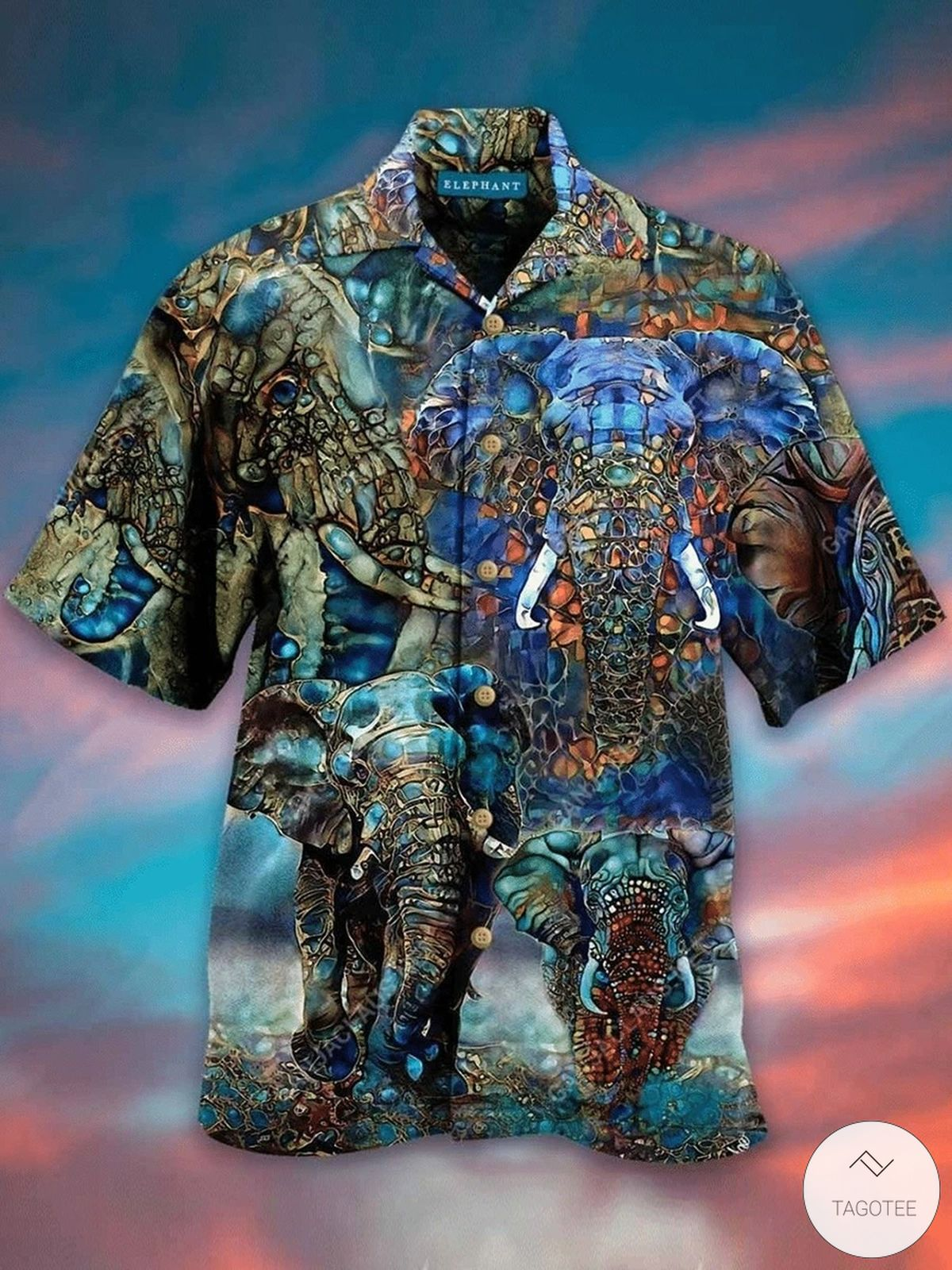 Kaleidoscope Elephent Hawaiian Shirt