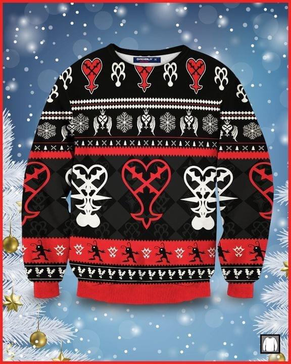 Kingdom Hearts Heartless Symbol Ugly Christmas Sweater