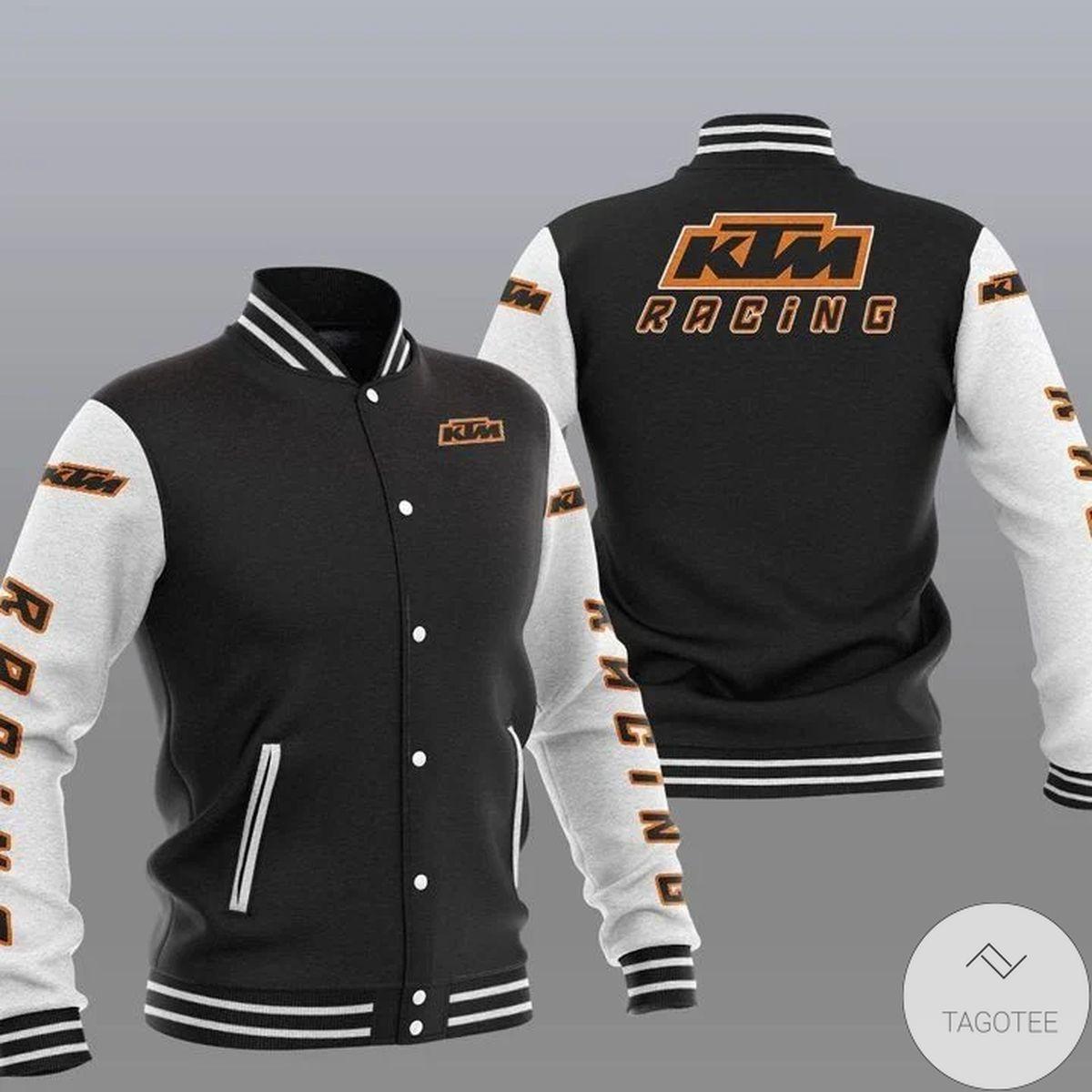 Ktm Racing Varsity Baseball Jacket