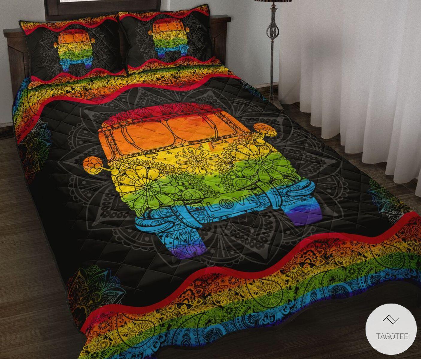 LGBT Hippie Quilt Bedding Set