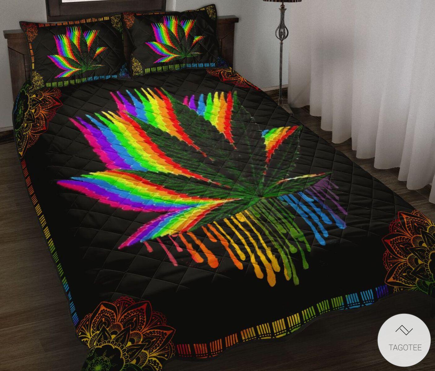 LGBT Weed Quilt Bedding Set